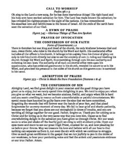 Wednesday Prayer Meeting